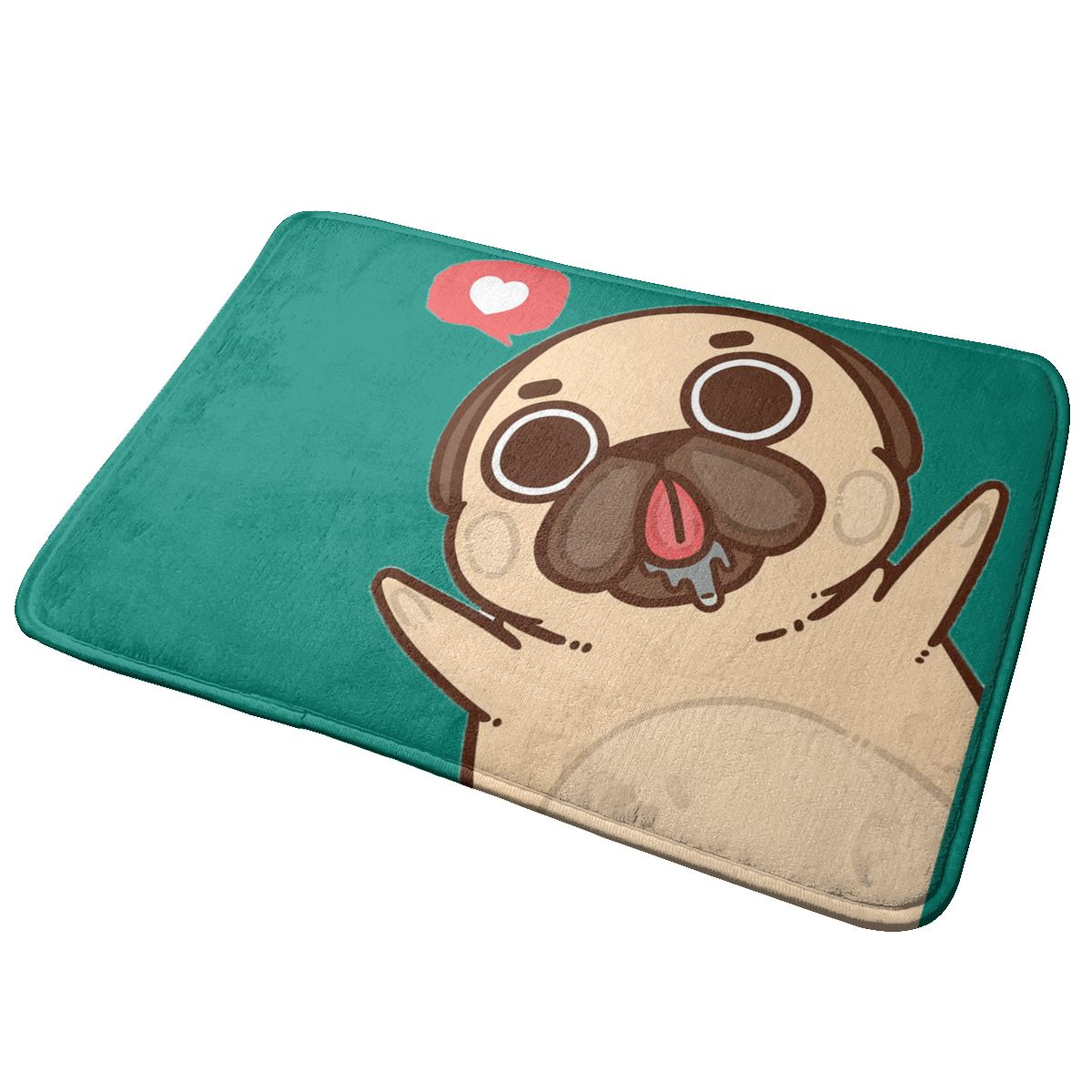 40x60cm Doormat Pug Love Door Mat Area Rug