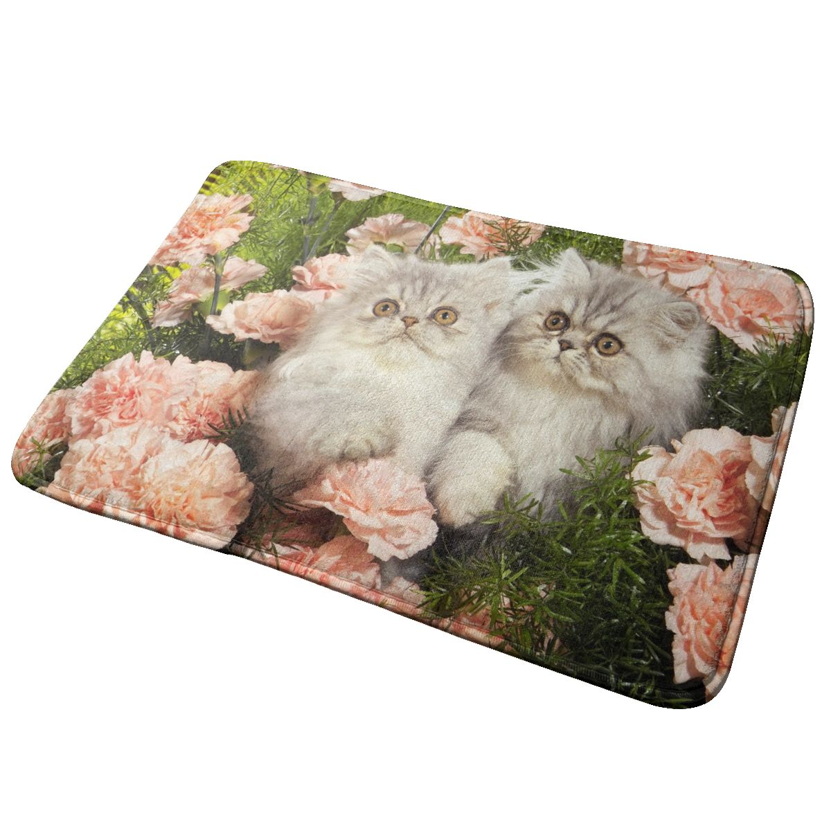 40x60cm Doormat Kittens Flowers Door Mat Area Rug