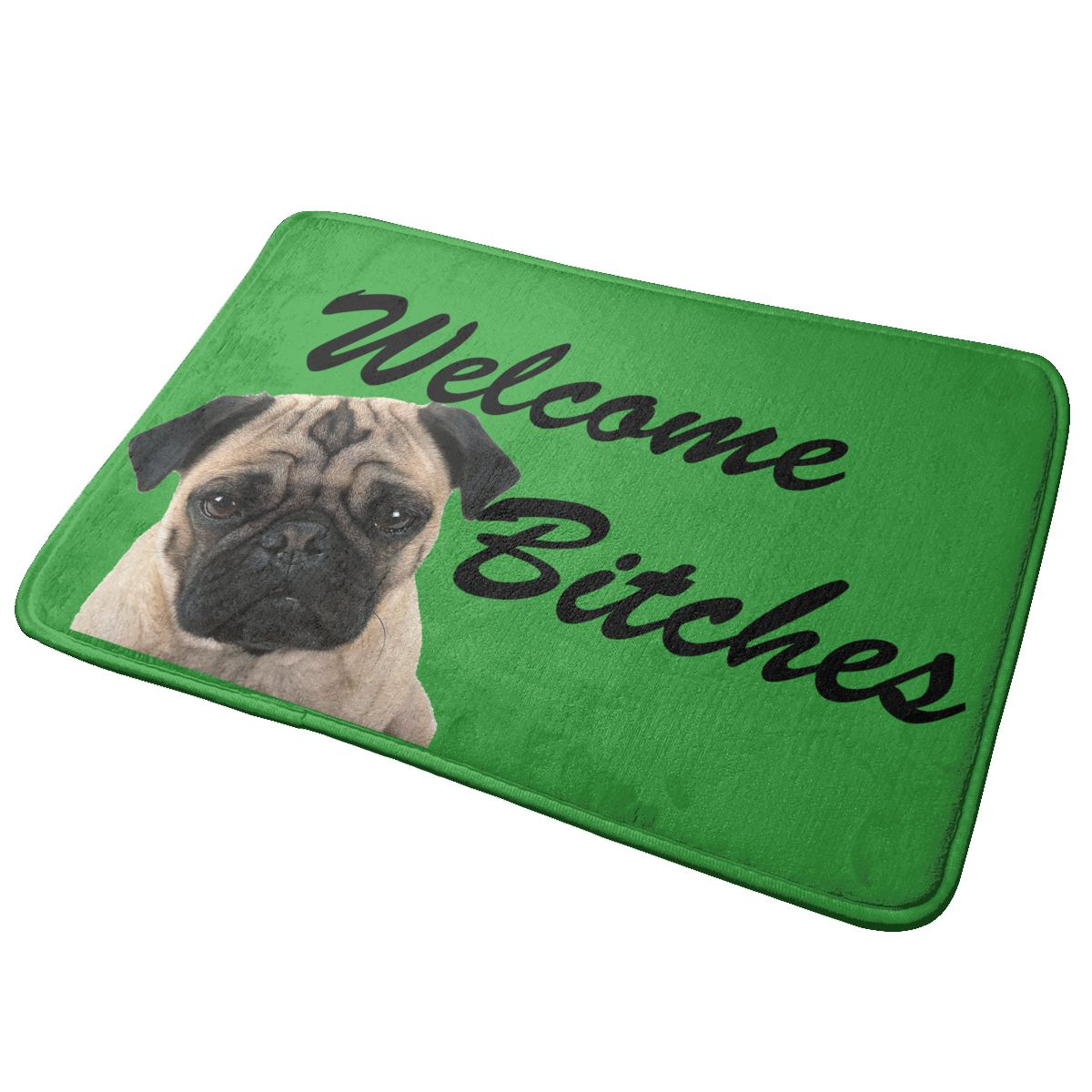 40x60cm Doormat Pug Welcome Bitches Door Mat Area Rug